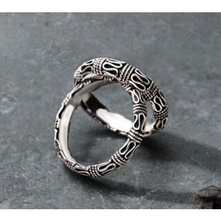 The Safety Lines s925 Sterling Silver Lovers Couple Rings