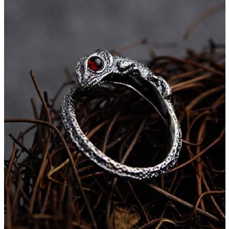 Chameleon s925 Sterling Silver Adjustable Men Ring Women Ring