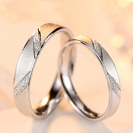 Love Forever 925 Sterling Silver Wedding/Promise/Couple Rings (Price For a Pair)