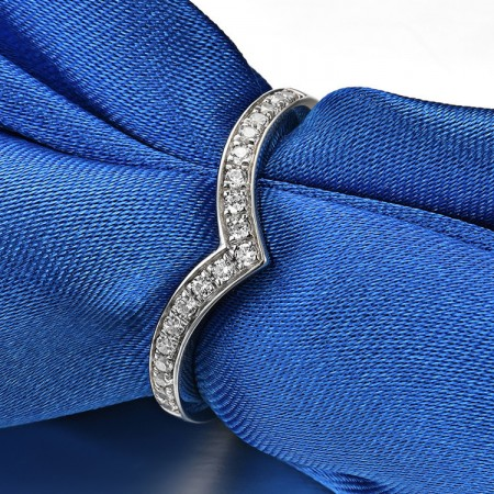 925 Silver Platinum Plated Round Simulated Diamond Promise/Wedding/Engagement Ring For Women Girl Friends Valentine's Day Gift