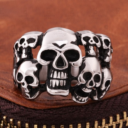 Skull Exaggerated Retro Ring
