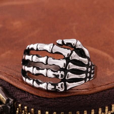 Men Skull Punk Joint Ring