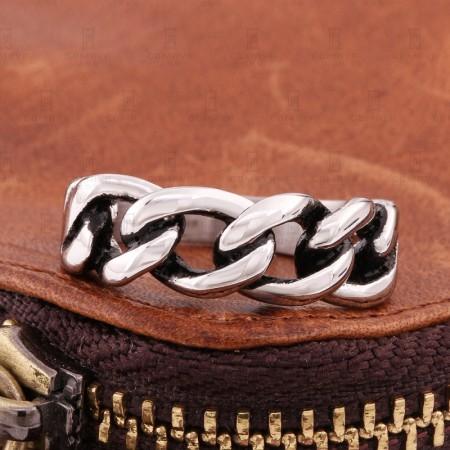 Creative Braided Bracelet Stainless Steel Ring