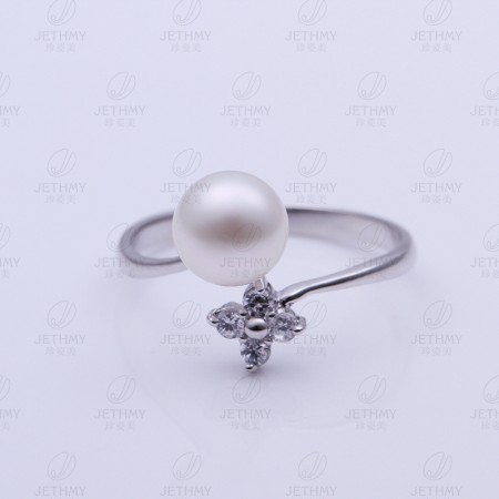 Personalized Opening Pearl Ring