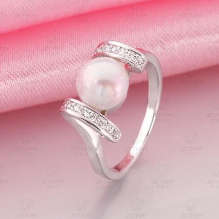 Environmental Electroplating Pearl Ring