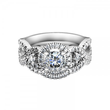 Stunning 925 Sterling Ring Bridal Set With SONA Diamond And CZ Inlaid