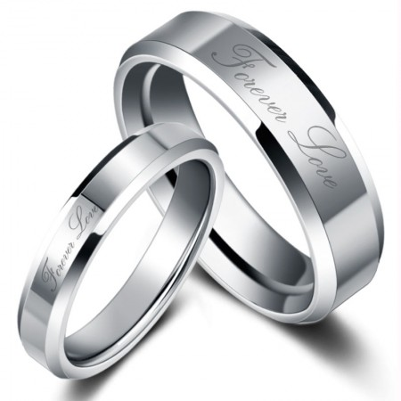 Forever Love Tungsten Couple Rings For Lovers(Price For a Pari)