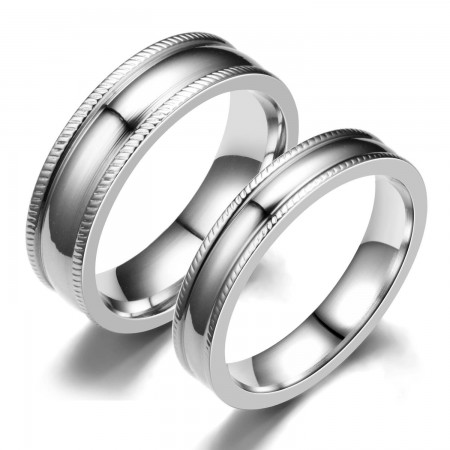 New Simple Korean Fashion Lover's Sterling Silver Rings(Price For A Pair)
