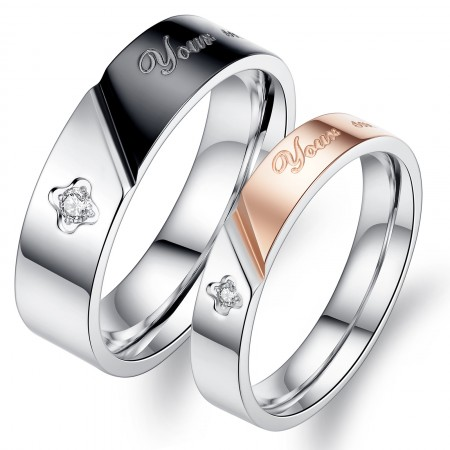 Titanium Steel Lover Rings With Your Smile Makes Me Happy (Price For a Pair)