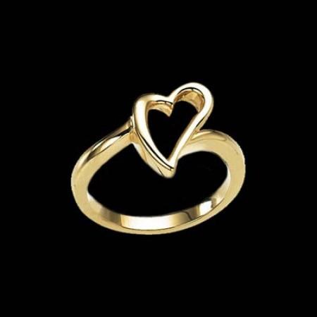 14K Golden Heart Ring