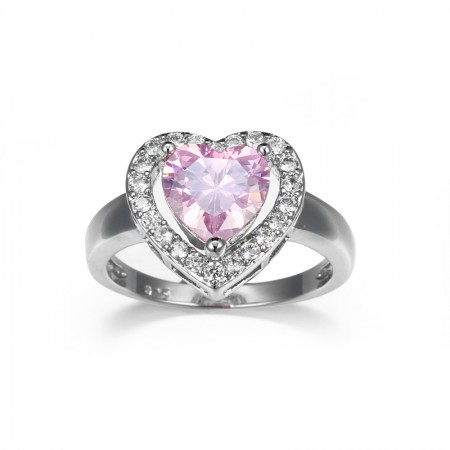 New Arrival Silver Heart Promise Engagement Ring