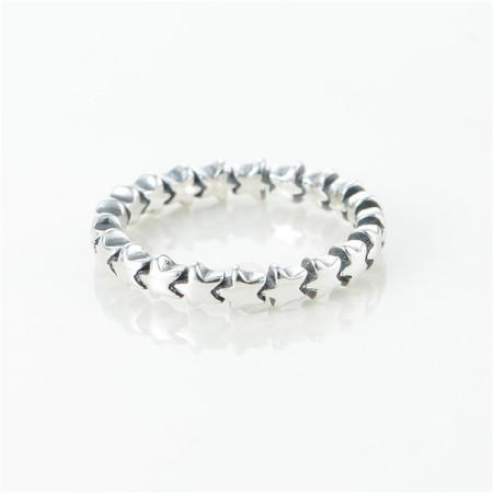 Star tracks 925 sterling silver rings