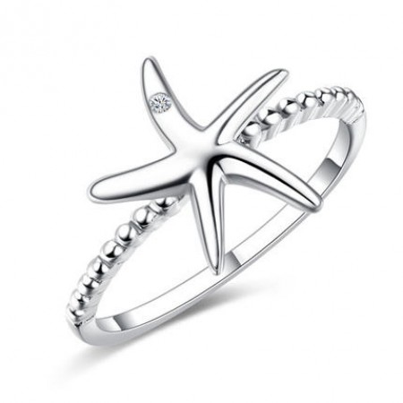 Starfish 925 Silver Ring Women