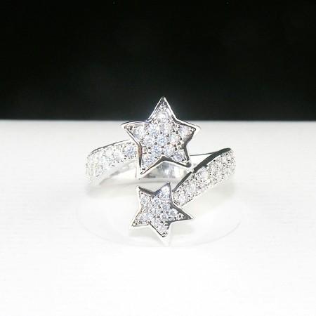 Micro Pave zircon flash diamond star ring