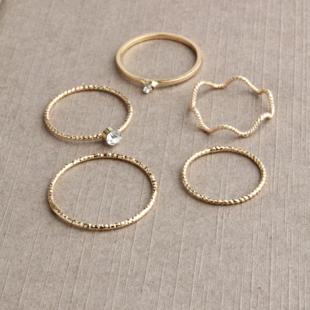 Retro fashion multi-turn multi-piece ring