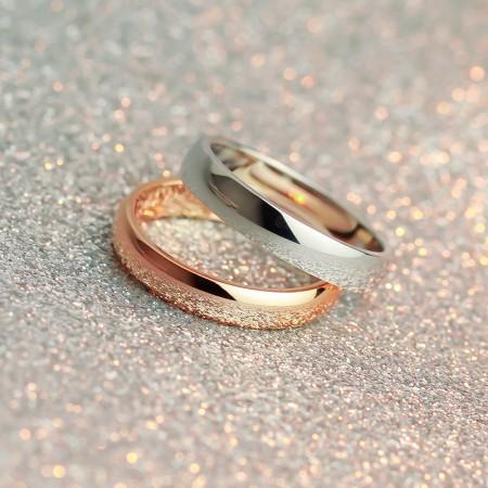 18K rose gold simple ring