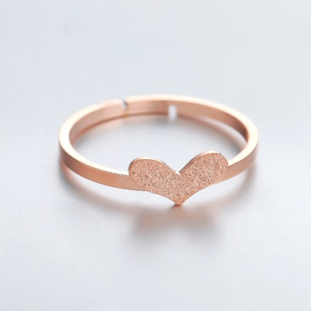 18K rose gold temperament love ring