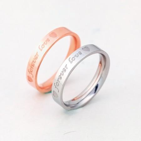 18K Rose Gold Korean Couple Rings