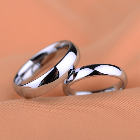 Personalized Engraved Smooth Couple Rings