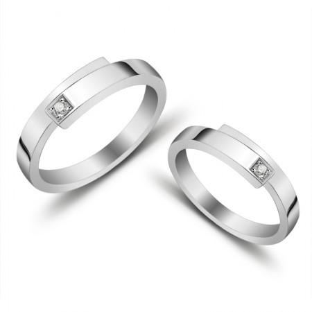 925 Silver Engraved Couple Rings