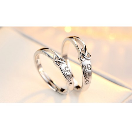 925 Silver Free Engraved Creative Couple Rings
