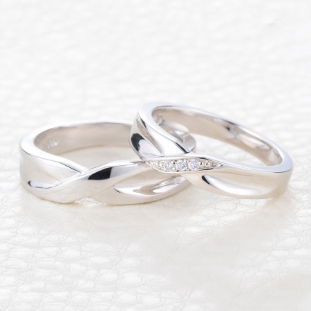 Creative Engraved Silver Couple Rings