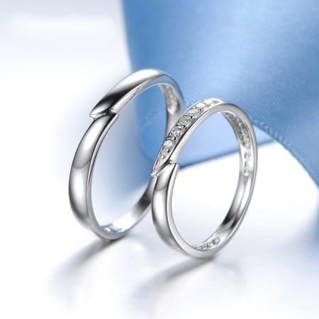 925 Silver Original Design Meets Love Creative Engraved Couple Rings