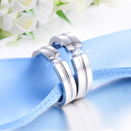 925 Silver Original Design Creative Engraved Couple Rings