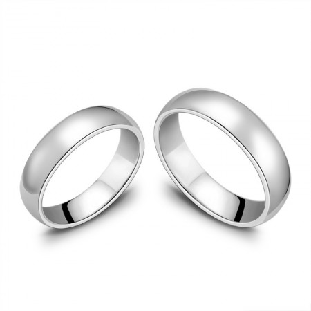 925 Silver Creative Lettering Couple Rings