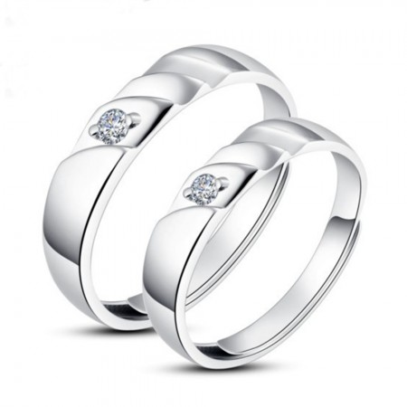 925 Silver Adjustable Opening Couple Rings