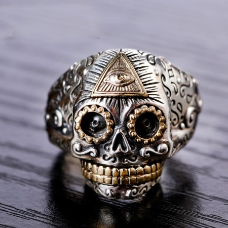 Retro Domineering Personality Opening Skull Ring