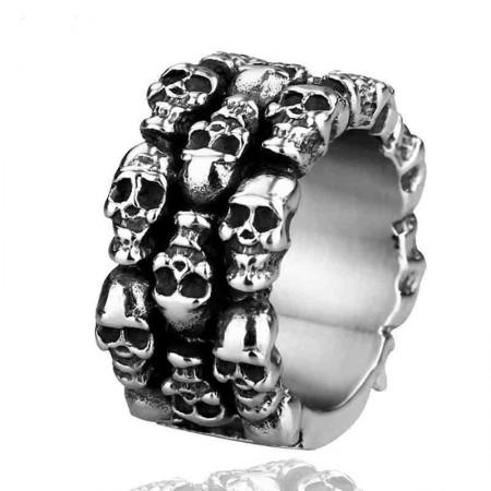 Retro Domineering Personality Skull Ring