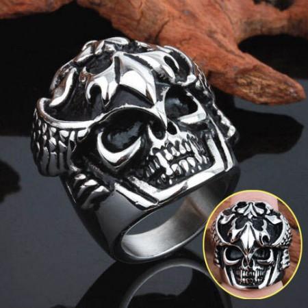 Complex Heart Guke Luo Domineering Fashion Punk Skull Ring