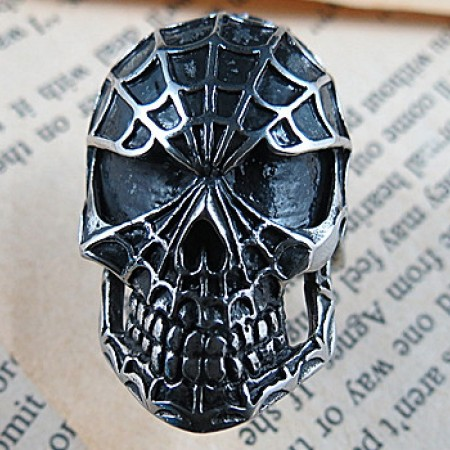 Spider-Man Skull Punk Personality Titanium Steel Rings