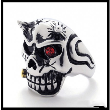 Retro Punk Fashion Skull Hell Ring