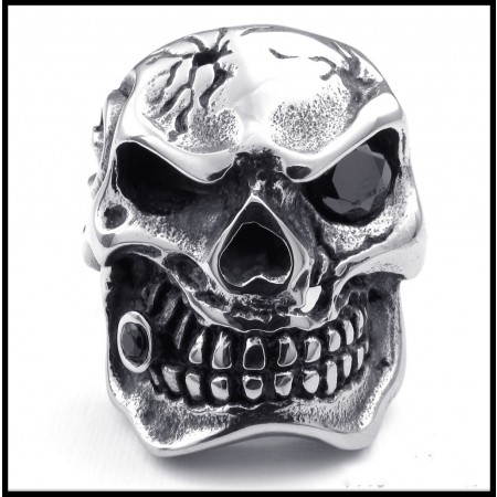 Domineering Titanium Steel Skull Diamond Rings