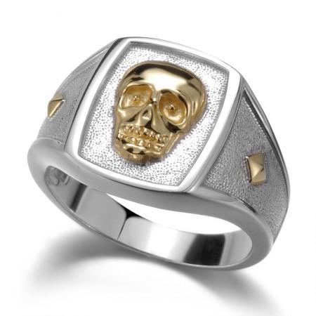 S925 Silver Skull Men'S Rings