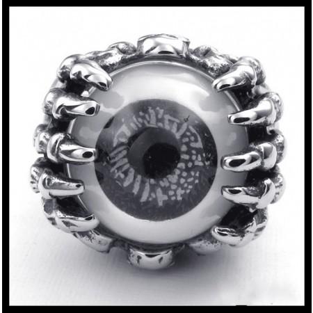 Punk Rock Skull Eyeball Titanium Steel Men Ring