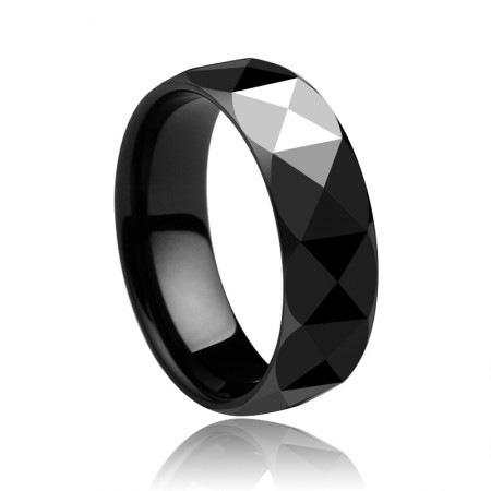 European Black Ceramic Ring