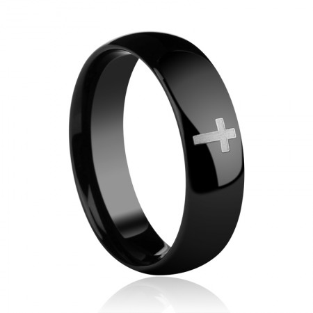 Black Cross Men'S Rings