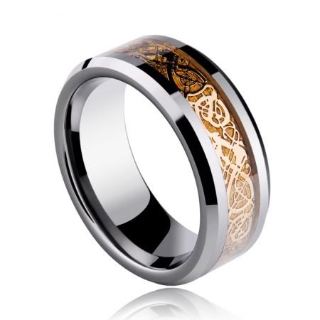 Luxury Black Gold Domineering Dragon Ring