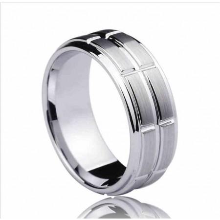 European Fashion Wide Tungsten Ring