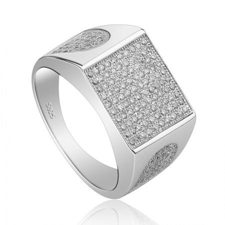 925 Silver Fashion Shine Zircon Ring