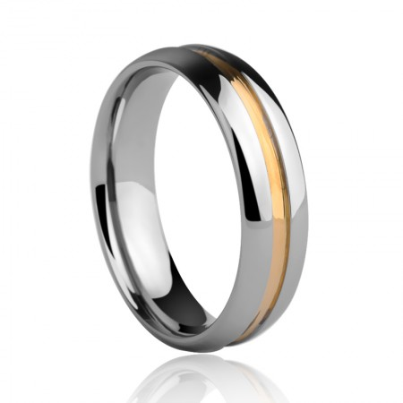 Fashion Hit Color Tungsten Ring