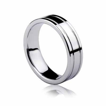 European Minimalist Tungsten Ring