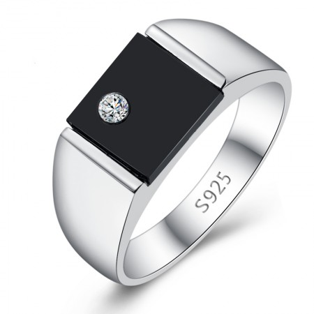 925 Silver Black Onyx Ring Synthesis
