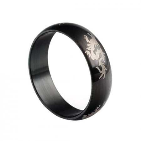 Black Dragon Mascot Ring