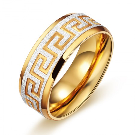 Golden Great Wall Pattern Adornment Ring