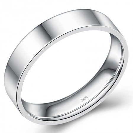 925 Silver Simple Surface Ring