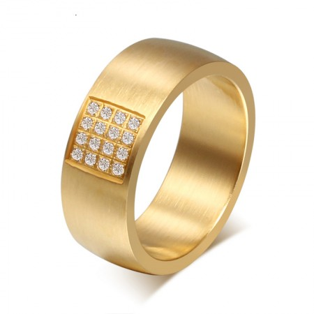 Domineering Gold Diamond Ring